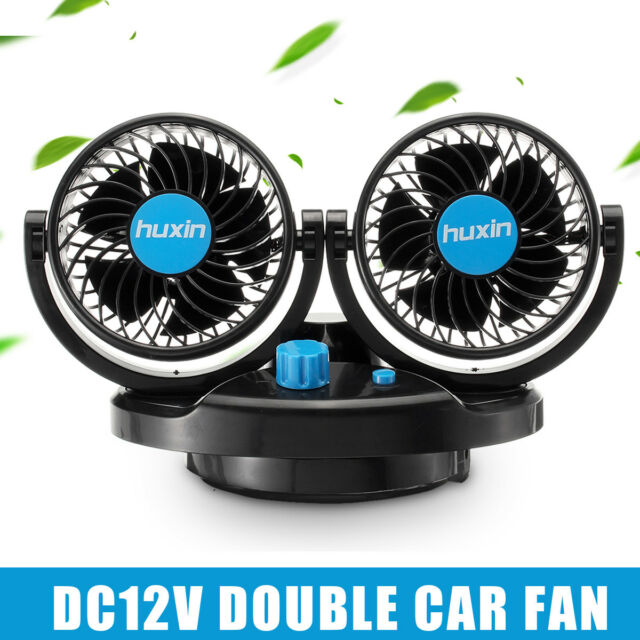 Dual Head Portable Air Conditioner For Car 12V DC Plug In Vehicle Fan Dash Mount