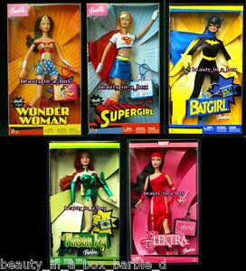 Wonder Woman Barbie Doll Batgirl Supergirl Poison Ivy Elektra Super