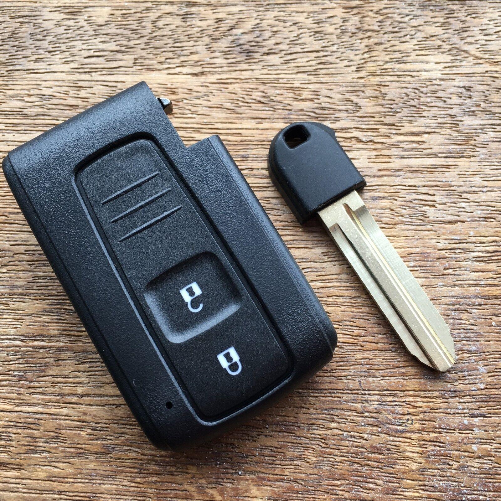 2 Button Smart Remote Key Fob Case for Toyota Prius Corolla Verso