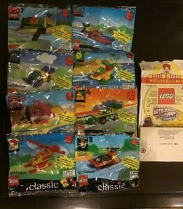 Lego-McDonald-039-s-Happy-Meal-Toys-COMPLETE-set-of-8-for-1999-MIP