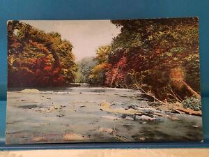 Details About Vintage Red Letter Postcard Pc Swannanoa River Blue Ridge Mountains Asheville Nc
