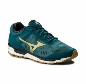 quality design 2d1f0 01560 Details about Mizuno Synchro MX 2 Running Shoes Men's - J1GE171950 Blue /  Gold