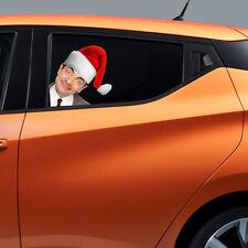 Mr Bean Xmas Peeking on Board Kids Boys Bedroom Decal Wall Car Art Sticker Gift