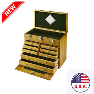 8-Drawer-Wood-Tool-Chest-storage-Tools-Wooden-Tool-Box-Windsor-Cabinet-Felt