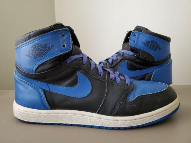 212399ff618b 1985 Nike Air Jordan 1 Black/royal - Original Vintage 85 One Not Retro Left  Only for sale online | eBay