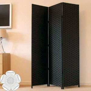 folding room divider paravent panel black 3 partition dressing