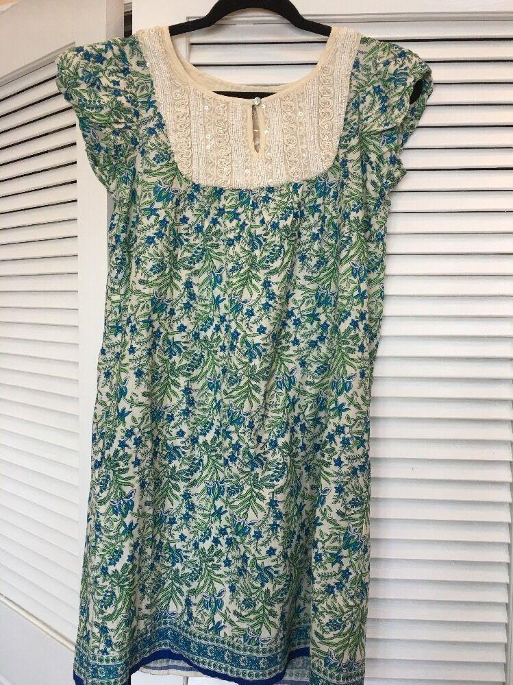Calypso St. Barth Beaded Embellished Paisley Ethnic Tunic Dress Nwt Xs Runs Big