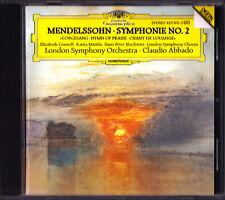 Claudio ABBADO: MENDELSSOHN Symphony No.2 Lobgesang CONNELL MATTILA BLOCHWITZ CD