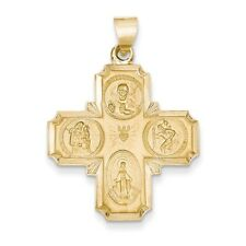 14k Yellow Gold Four-way Medal Pendant