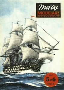 "GENUINE PAPER-CARD MODEL KIT-MALY MODELARZ - H.M.S.""VICTORY"""