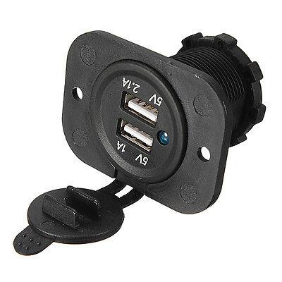 KFZ Auto Steckdose Zigarettenanzünder Ladegerät Adapter Dual USB Buchse 12V/24V