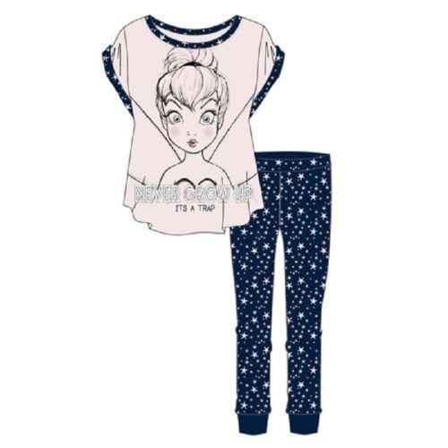 Tinkerbell never grow up ladies girl/'s official Pyjamas Pj ideal