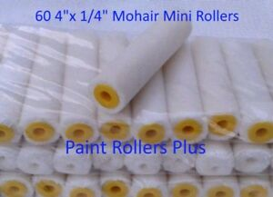 60-Mohair-Mini-Paint-Rollers-4-034-x-1-4-034-Free-Shipping