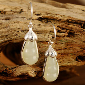 A01-Earring-Bloom-with-Droplets-from-White-Jade-Sterling-Silver-925