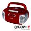 miniature 1 - GROOV-E RETRO BOOMBOX PORTABLE CD CASSETTE & FM RADIO PLAYER - RED - GVPS813RD