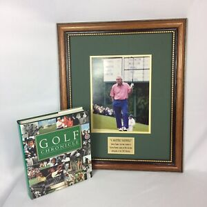 Admirable Details About Framed Picture Of Arnold Palmer At The 2002 Masters And Coffee Table Golf Book Gmtry Best Dining Table And Chair Ideas Images Gmtryco