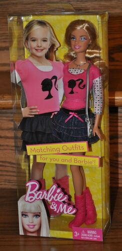 Barbie and Me Matching Outfits Fashion Doll Pink Shirt Denim 2010 V7535 NEW