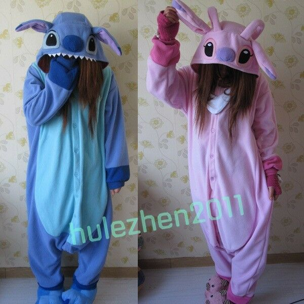 Adult Animal Kigurumi Pajamas Costume Cosplay pyjamas Blue Stitch angel lilo