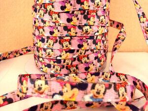 2 Metro Minnie Mouse tamaño 3/8 Zapatos Cordones de Cinta de doble cara perfecta Diademas
