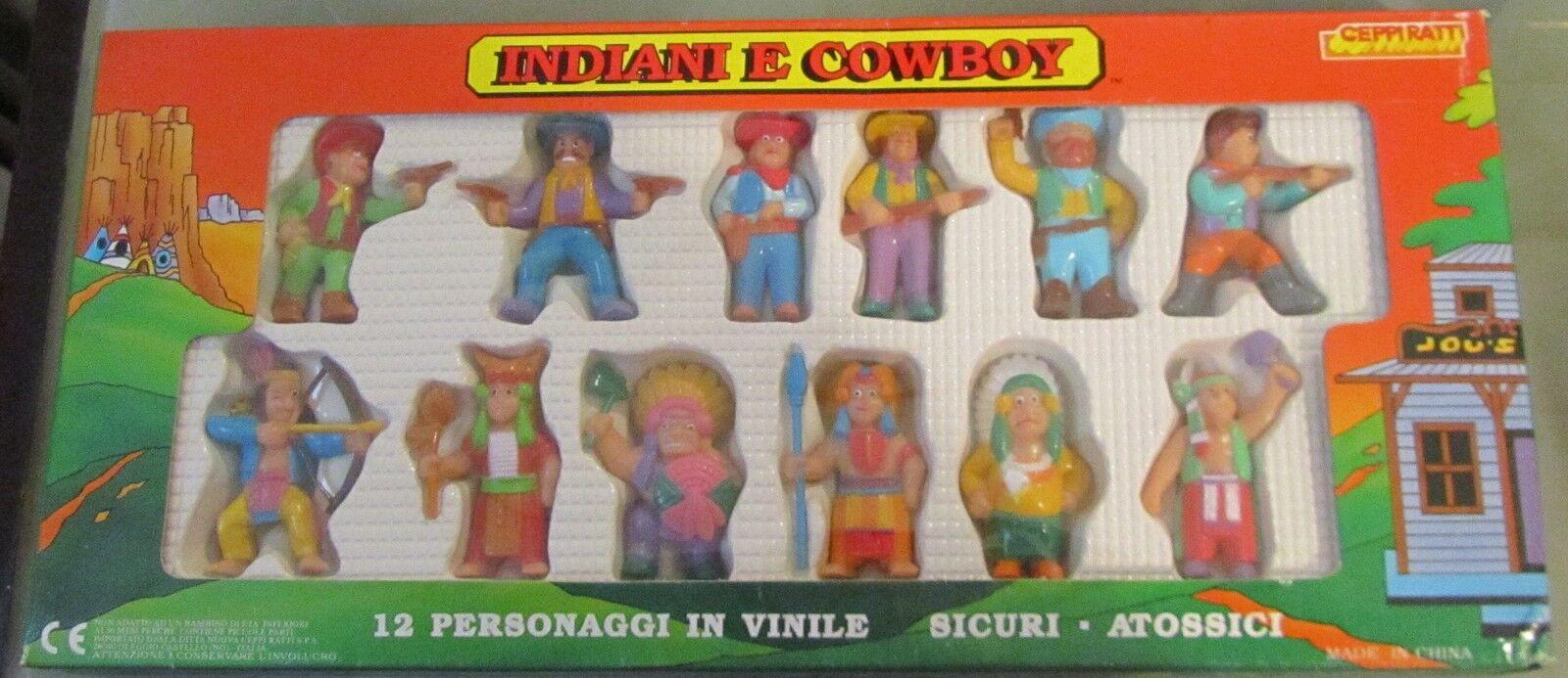 Blister Indiani E Cowboy anni 80 ceppiratti 12 pezzi SPESE GRATIS