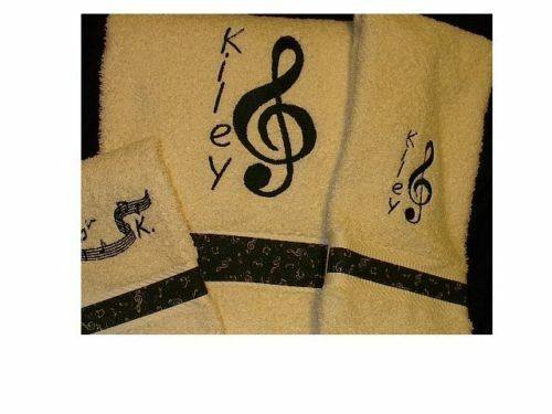 MUSIC NOTE  HIS & HERS  TOWEL SETS (6 pieces)
