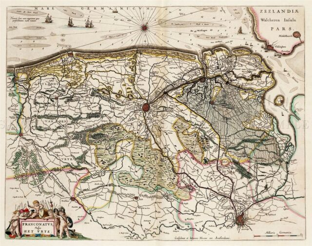 MAP ANTIQUE 1654 SCOTLAND BLAEU ARRAN HISTORIC LARGE REPRO POSTER PRINT PAM0113