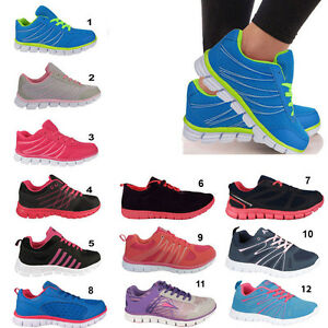 f74bc4a6e5e ladies running trainers womens shock absorbing sports walking ...