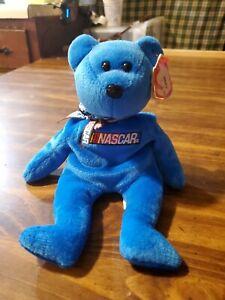 TY Beanie Babies Racer the Bear (Blue Variation)