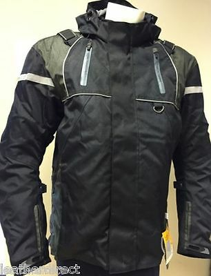 Grey Motorbike Black Motorcycle Wind/ Waterproof Jacket CE Armour Collection