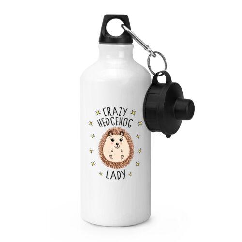 Crazy Hedgehog Lady Sports Drinks Water Bottle