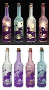 Led Bottle Lights Unicorn Room Lounge Decoration Glass Bottle Light