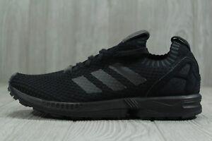 best service 15b75 ab346 Details about 35 New Adidas Originals ZX Flux Primeknit Men's SZ 8.5  Black/Black Shoes S75976