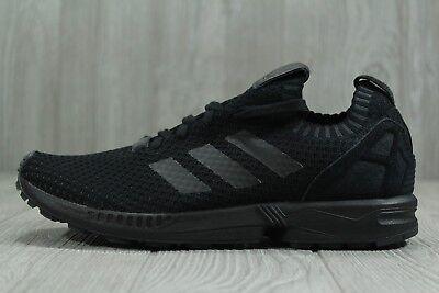 size 40 1b3d8 06a29 35 New Adidas Originals ZX Flux Primeknit Men's SZ 8.5 Black/Black Shoes  S75976 | eBay