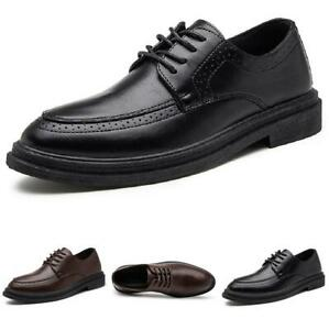 Mens Work Oxfords Office Lace up Formal Business Leisure Faux Leather Shoes 44 L