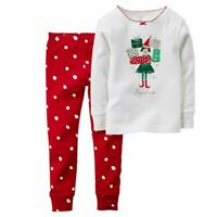 NEW Carter's 2 Piece PJs Santa's Helper Girl Holidy Pajamas NWT 3t 4t 5t 6 7 8