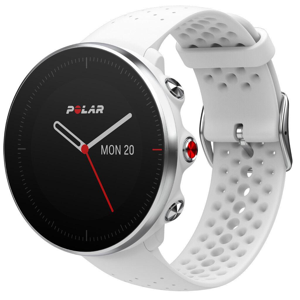 Polar Vantage M GPS Profi Multisportuhr Smartwatch Pulsuhr Fitness - weiss M L