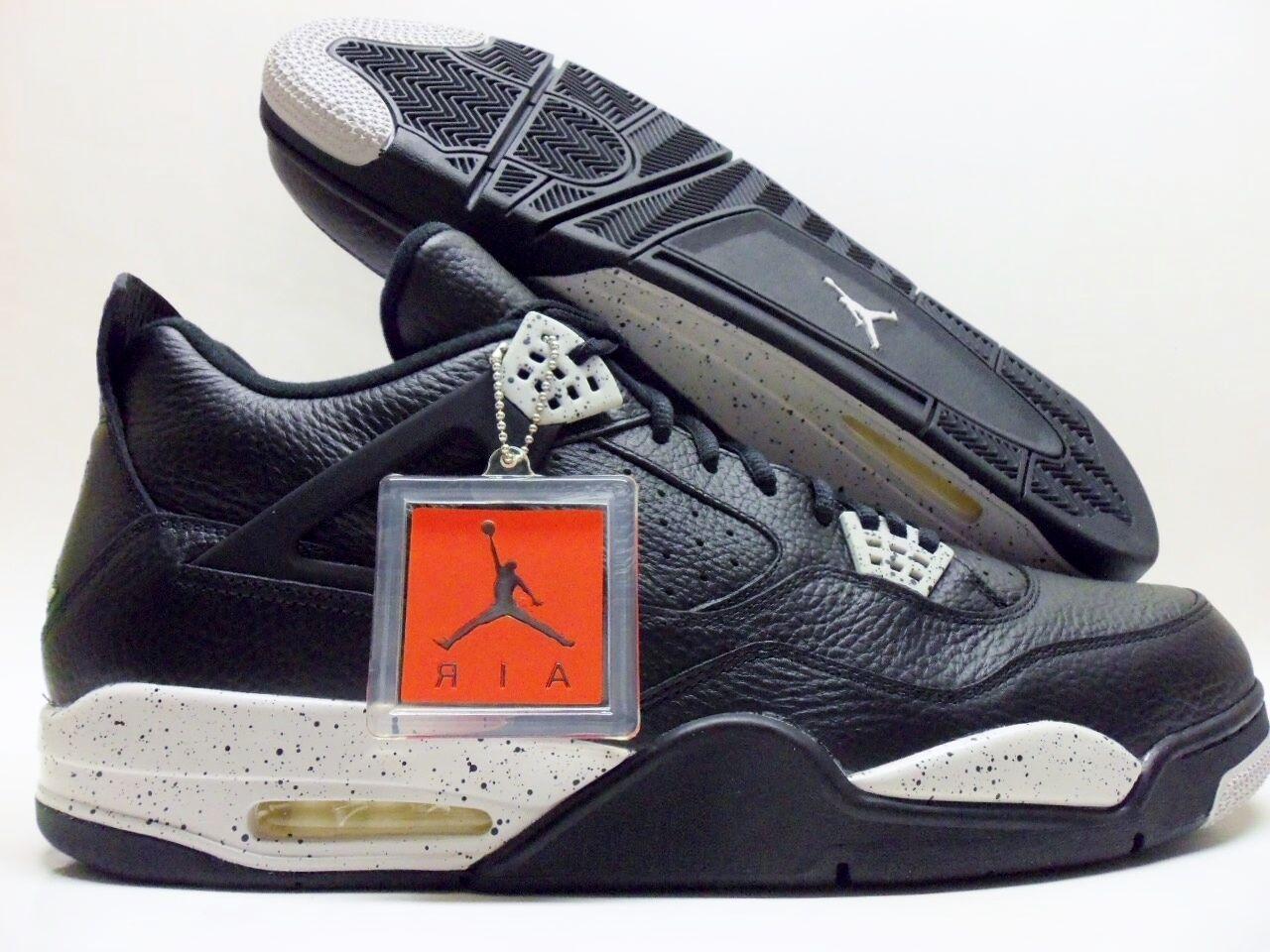 Nike air jordan 4 retrò e nero / tech grey-nero dimensioni uomini 17 [314254-003]