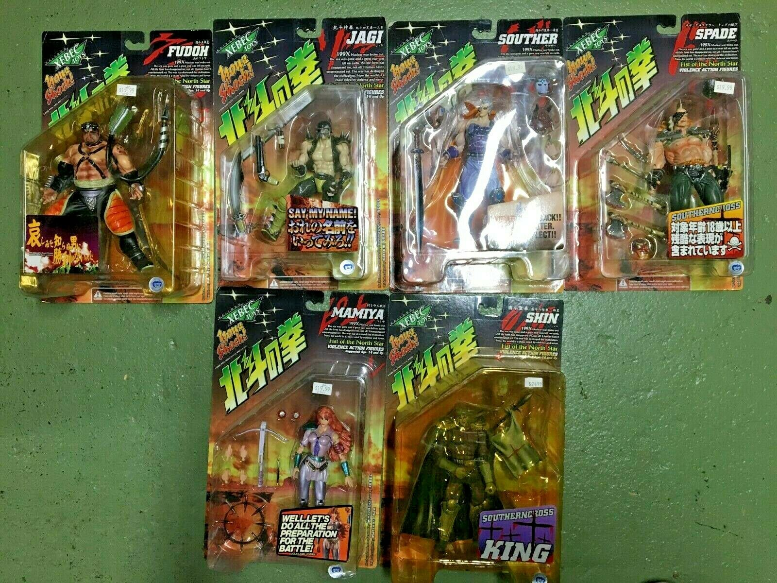 Xebec Fist of the North estrella LOT OF 6 CHARACTERS 199X Voilence azione cifra set