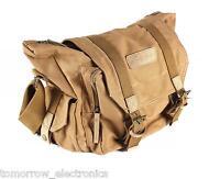 Ohuhu Canvas Camera Bag Case Shoulder Messenger for laptop DSLR Nikon Canon Sony