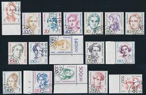BERLIN-1987-1989-Freimarken-Frauen-17-Werte-komplett-gestempelt-Mi-200