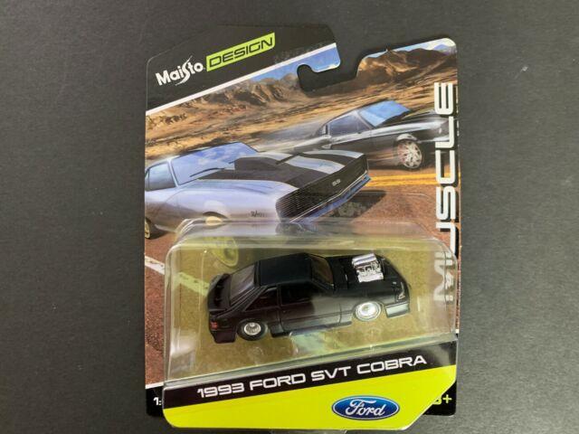 Maisto Ford Mustang Svt Cobra 1993 Negro Mate Motor Soplador 15494 1/64