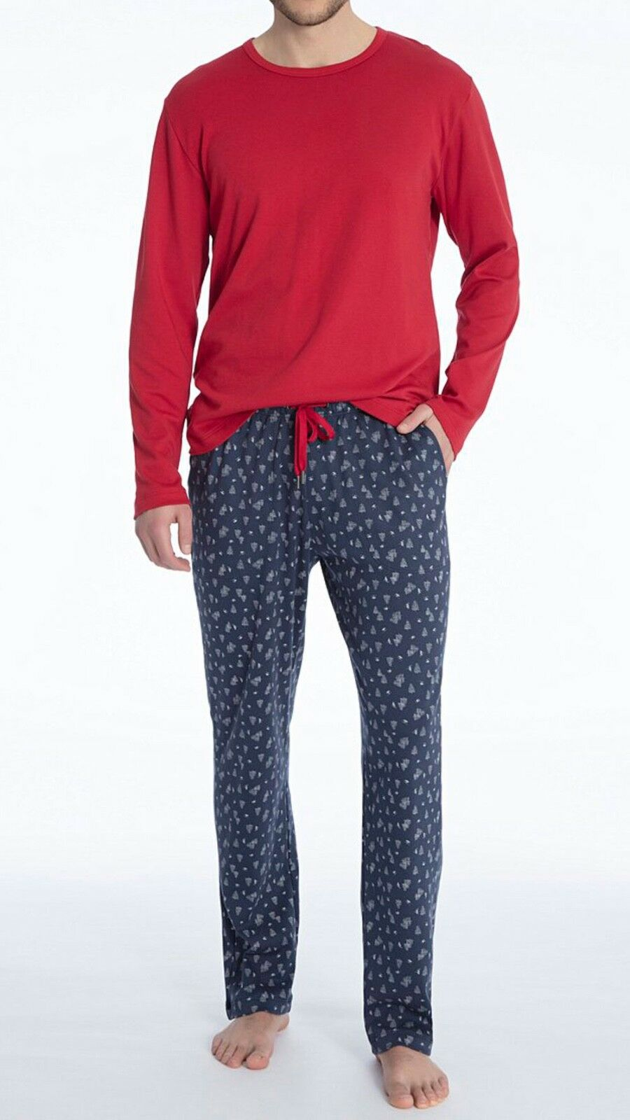 CALIDA Pyjama Weihnachten M indigo mood 41819