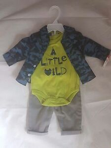 small wonders baby boy 3 pc outfit newborn clothes size 0 3 months
