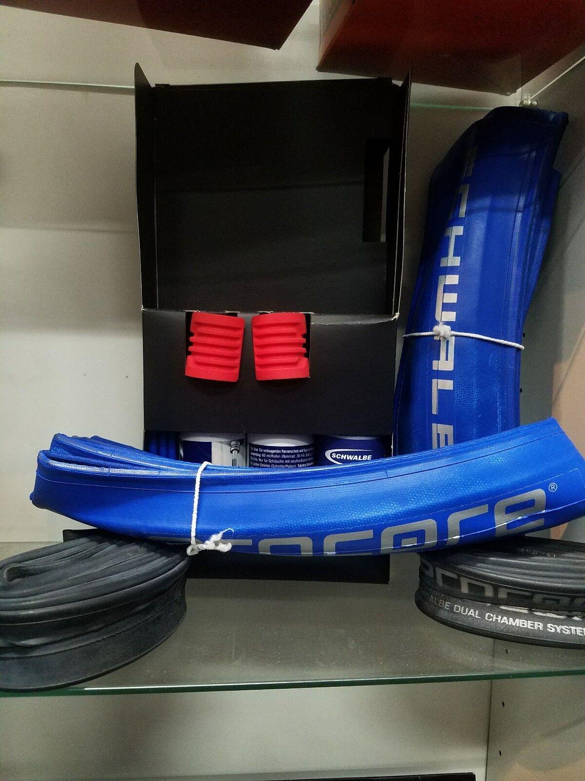 Schwalbe procore 26  sistema incluye suministros para converdeir dos ruedas