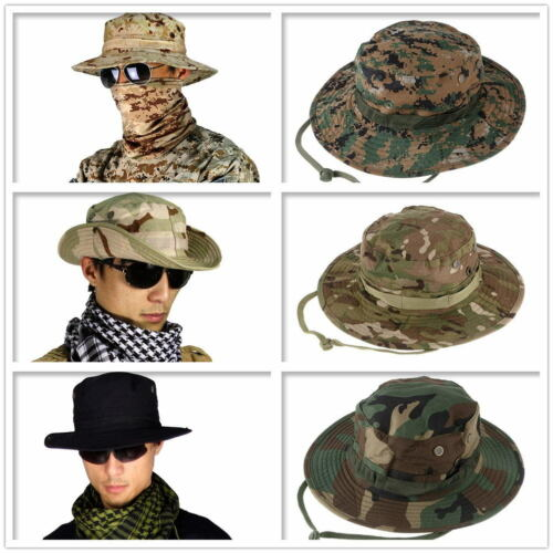 Outdoor Sports Fishing Hat Boonie Camouflage Bucket Hat Wide Brim Sun Cap