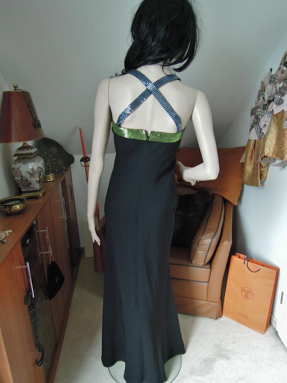 Abendkleid Gr. 36 Gr. 38  schwarz blau grün grün grün Pailletten erotisch CLASS Godet 9b89dd