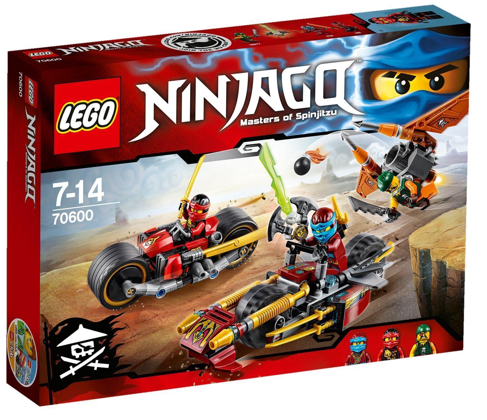 autorizzazione LEGO LEGO LEGO ® Ninjago ™ 70600  NINJA-Bike caccia  Pirati dell'Aria Nuovo Scatola Originale nuovo MISB  negozio outlet
