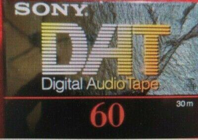 Sony DAT 60 tape SEALED NEW DT-60RA