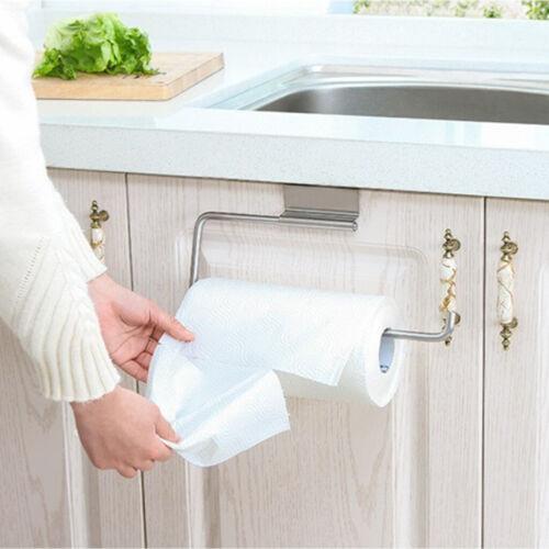 Paper Towel Holder Door Stainless Steel Rack Under Cabinet Kitchen Toliet