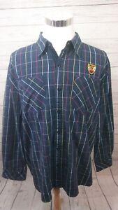 Eight-732-Plaid-Button-Shirt-L-S-Young-Jeezy-Men-039-s-Size-XXL